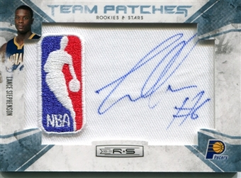 2010/11 Rookies and Stars Rookie NBA Team Patches Signatures Platinum #139 Lance Stephenson 1/1
