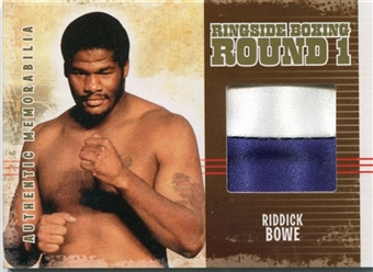 2010 Ringside Boxing Round One Authentic Memorabilia Gold AM23 Riddick Bowe 6/10