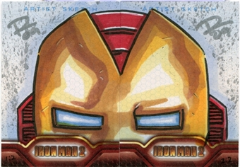 2010 Upper Deck Iron Man 2 Sketchs Iron Man Set 1/2 and 2/2