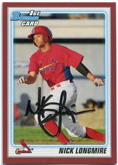 2010 Bowman Draft Prospects Red #BDPP22 Nick Longmire 1/1
