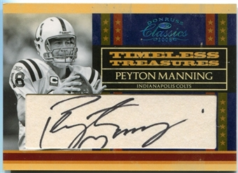 2008 Donruss Classics Timeless Treasures Cuts #5 Peyton Manning /15