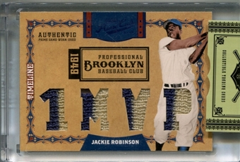 2008 Playoff Prime Cuts Timeline Silver Jersey #28 Jackie Robinson 9/10