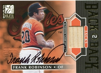 2001 Donruss Elite Back 2 Back Jacks Autograph Bat #BB23 Frank Robinson /50