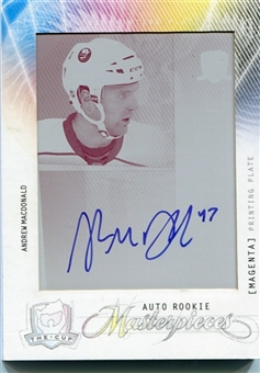 2009-10 The Cup Autograph Printing Plates Magenta #159 Andrew MacDonald 1/1