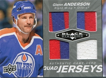 2010-11 Black Diamond Jerseys Quad #QJGA Glenn Anderson