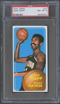 1970/71 Topps Basketball #12 John Trapp PSA 8 (NM-MT) *3032