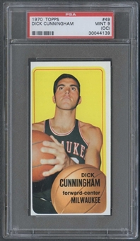 1970/71 Topps Basketball #49 Dick Cunningham PSA 9 (MINT) (OC) *4139