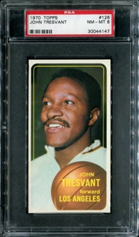 1970/71 Topps Basketball #126 John Tresvant PSA 8 (NM-MT) *4147