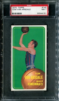 1970/71 Topps Basketball #145 Tom Van Arsdale PSA 7 (NM) *4151