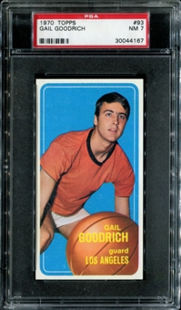 1970/71 Topps Basketball #93 Gail Goodrich PSA 7 (NM) *4167