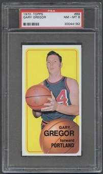 1970/71 Topps Basketball #89 Gary Gregor PSA 8 (NM-MT) *4182
