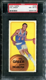 1970/71 Topps Basketball #155 Hal Greer PSA 8 (NM-MT) *4190