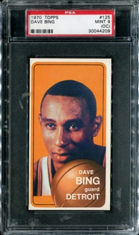 1970/71 Topps Basketball #125 Dave Bing PSA 9 (MINT) (OC) *4209