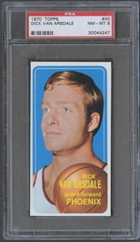 1970/71 Topps Basketball #45 Dick Van Arsdale PSA 8 (NM-MT) *4247