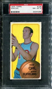 1970/71 Topps Basketball #128 Don Ohl PSA 8 (NM-MT) *4288