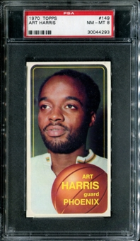 1970/71 Topps Basketball #149 Art Harris PSA 8 (NM-MT) *4293