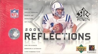2005 Upper Deck Reflections Football Hobby Box