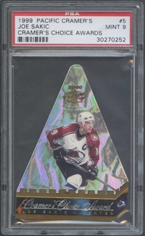 1999/00 Pacific Cramer's Hockey #5 Joe Sakic PSA 9 (MINT) *0252