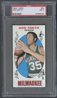 1969/70 Topps Basketball #52 Don Smith PSA 7 (NM) *4036