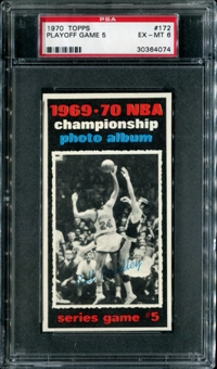1970/71 Topps Basketball #172 Playoff Game 5 - Bill Bradley PSA 6 (EX-MT) *4074
