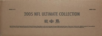 2005 Upper Deck Ultimate Collection Football Hobby 4-Box Case