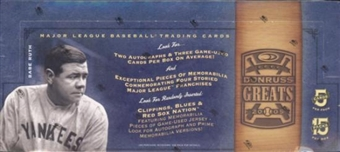 2005 Donruss Greats Baseball Hobby Box