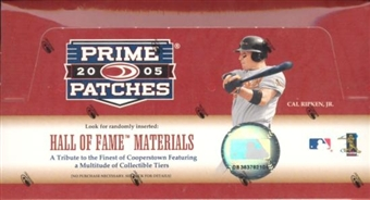 2005 Donruss Prime Patches Baseball Hobby Box