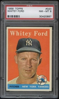1958 Topps Baseball #320 Whitey Ford PSA 8 (NM-MT) *0887