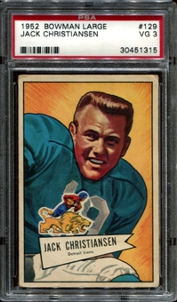 1952 Bowman Large Football #129 Jack Christiansen PSA 3 (VG) *1315