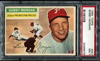 1956 Topps Baseball #337 Bobby Morgan PSA 7 (NM) *8578