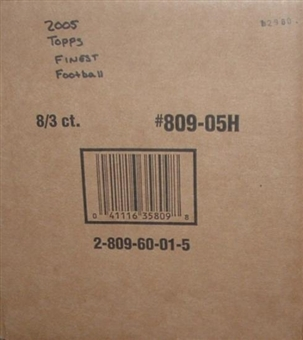 2005 Topps Finest Football Hobby 8-Box Case 809-05H