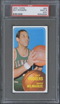 1970/71 Topps Basketball #22 Guy Rodgers PSA 9 (MINT) (OC) *2528