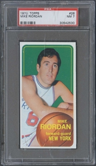 1970/71 Topps Basketball #26 Mike Riordan PSA 7 (NM) *2530