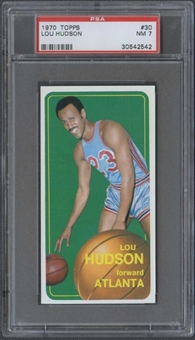 1970/71 Topps Basketball #30 Lou Hudson PSA 7 (NM) *2542