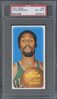 1970/71 Topps Basketball #40 Flynn Robinson PSA 8 (NM-MT) *2543