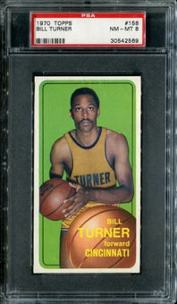 1970/71 Topps Basketball #158 Bill Turner PSA 8 (NM-MT) *2569