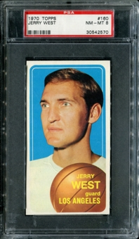 1970/71 Topps Basketball #160 Jerry West PSA 8 (NM-MT) *2570