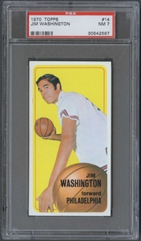 1970/71 Topps Basketball #14 Jim Washington PSA 7 (NM) *2587