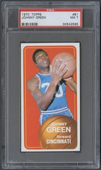 1970/71 Topps Basketball #81 Johnny Green PSA 7 (NM) *2595