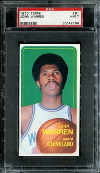 1970/71 Topps Basketball #91 John Warren PSA 7 (NM) *2598
