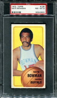 1970/71 Topps Basketball #138 Nate Bowman PSA 8 (NM-MT) *2603