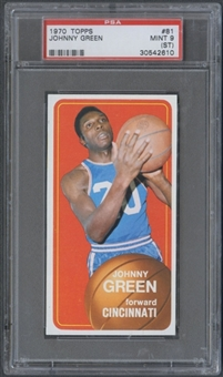 1970/71 Topps Basketball #81 Johnny Green PSA 9 (MINT) (ST) *2610