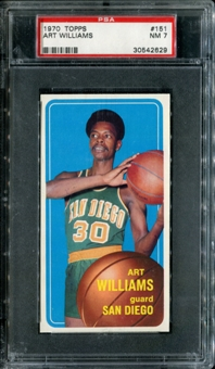 1970/71 Topps Basketball #151 Art Williams PSA 7 (NM) *2629