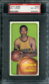 1970/71 Topps Basketball #158 Bill Turner PSA 8 (NM-MT) *2631