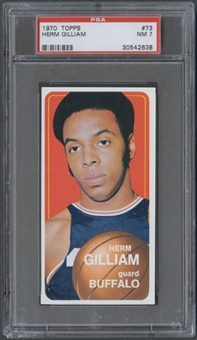 1970/71 Topps Basketball #73 Herm Gilliam PSA 7 (NM) *2638