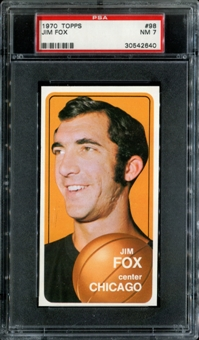 1970/71 Topps Basketball #98 Jim Fox PSA 7 (NM) *2640