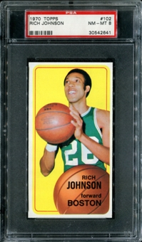 1970/71 Topps Basketball #102 Rich Johnson PSA 8 (NM-MT) *2641
