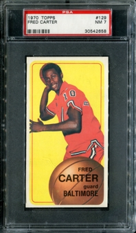 1970/71 Topps Basketball #129 Fred Carter PSA 7 (NM) *2658