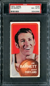 1970/71 Topps Basketball #142 Jim Barnett PSA 8 (NM-MT) *2669