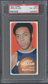 1970/71 Topps Basketball #73 Herm Gilliam PSA 8 (NM-MT) *2675
